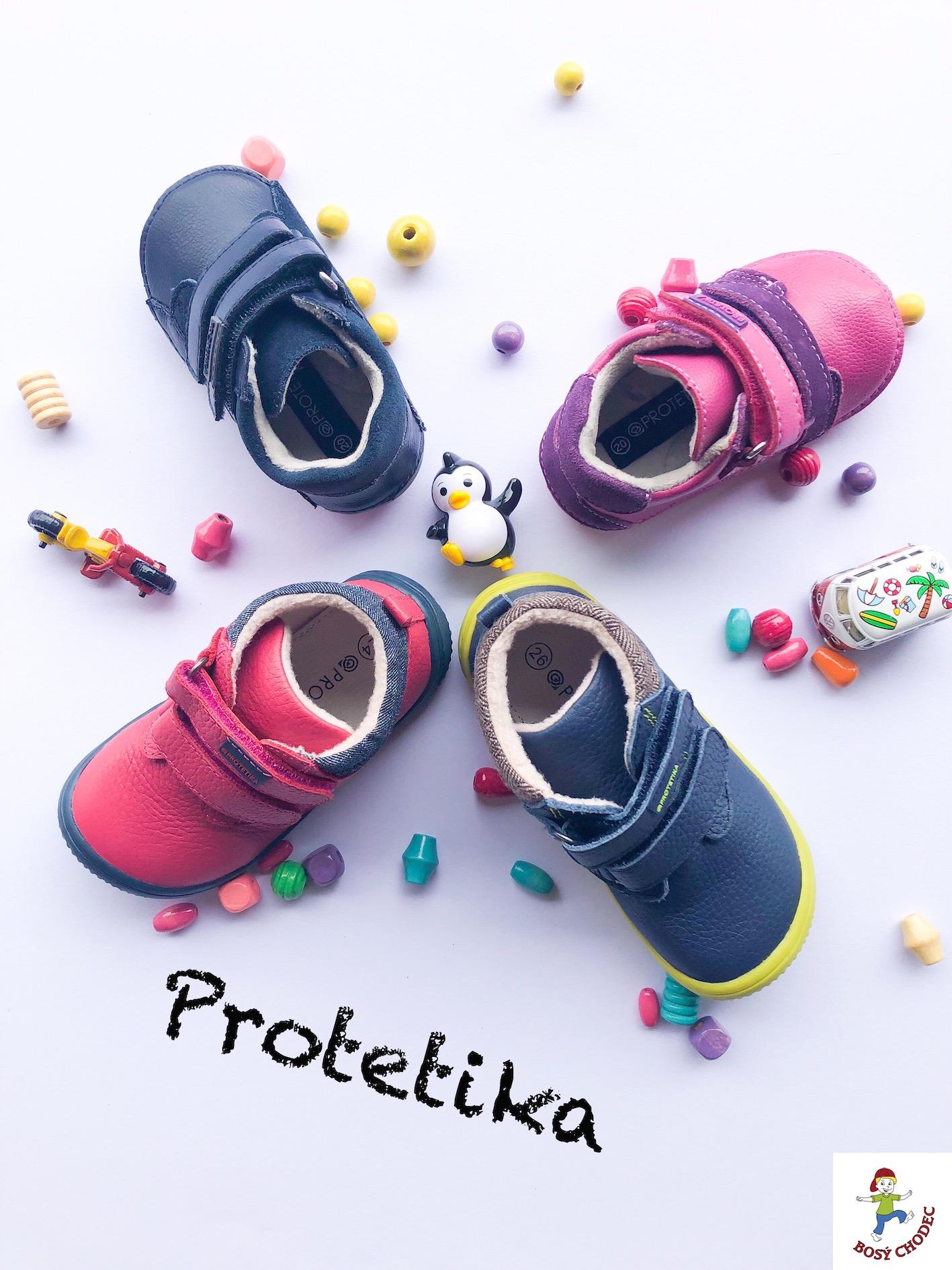 Protetika - podzimní dětská barefoot obuv