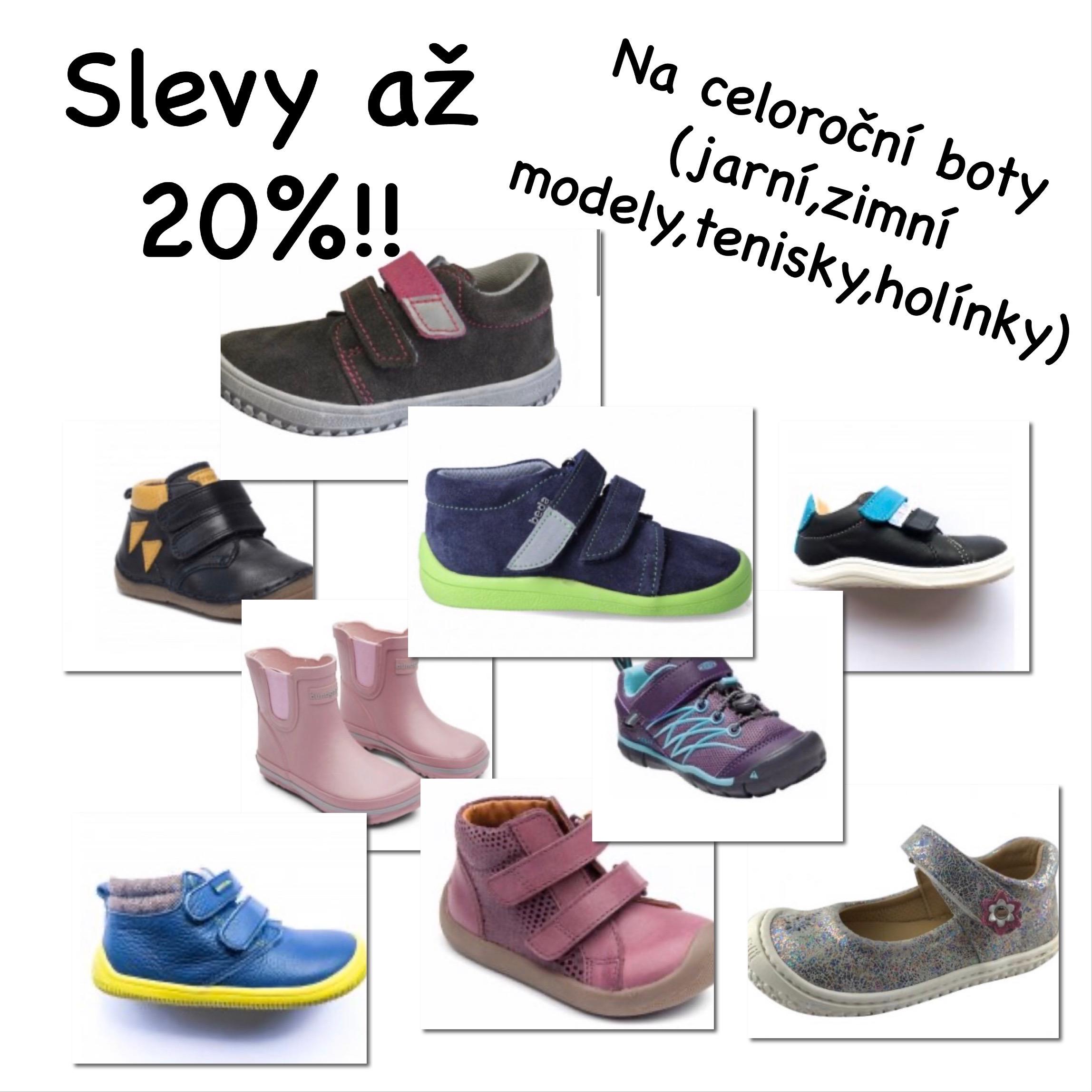 Slevy až 20% na celoroční dětské boty