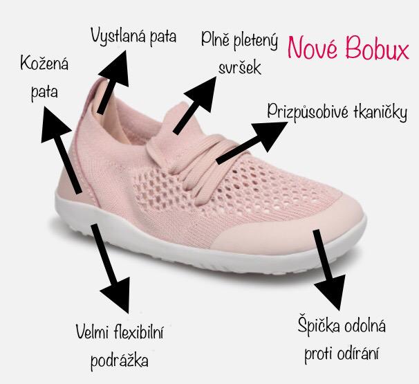 Bobux dětské pletené tenisky - novinka