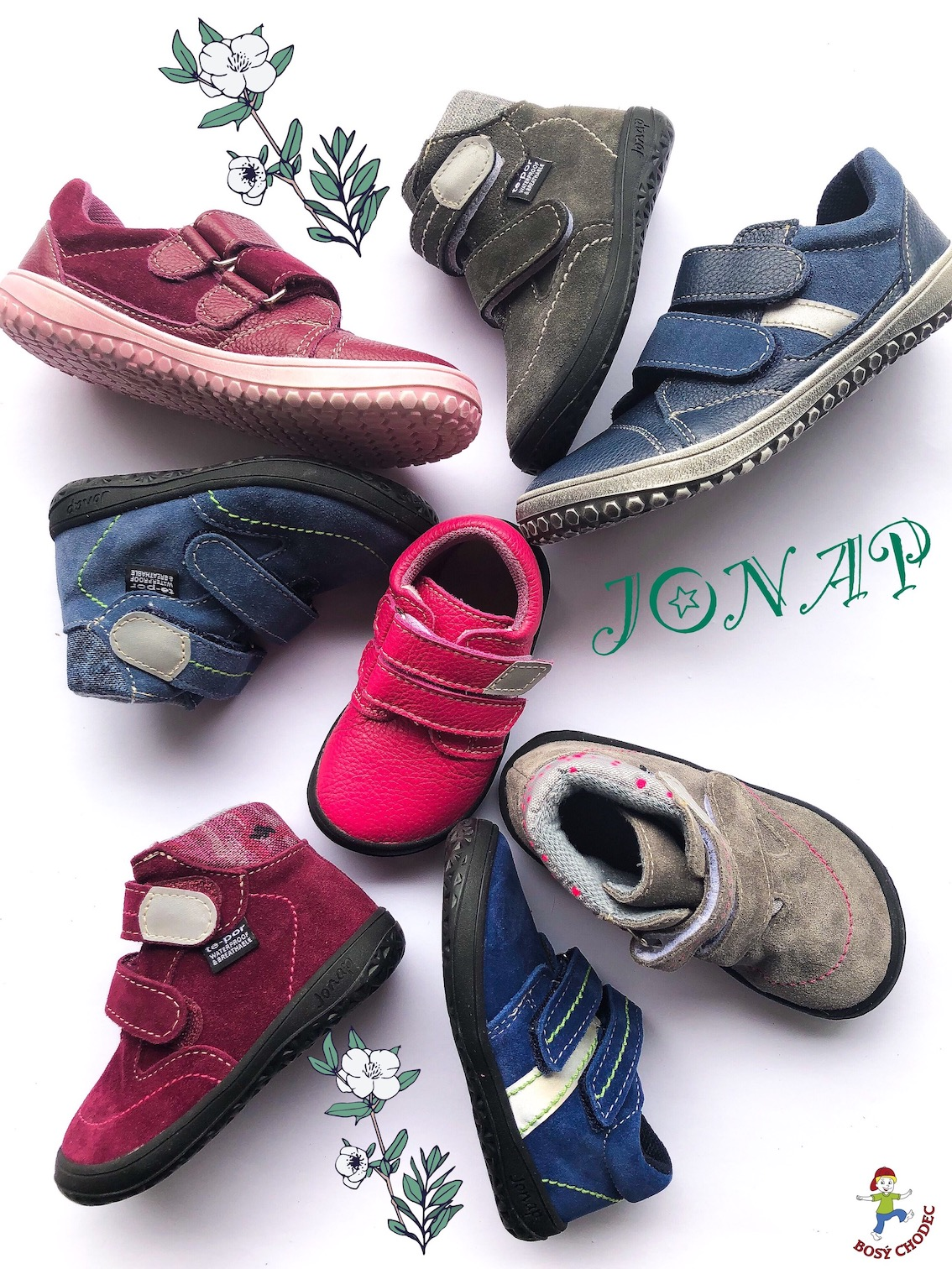 Jonap - celoroční dětské barefoot boty