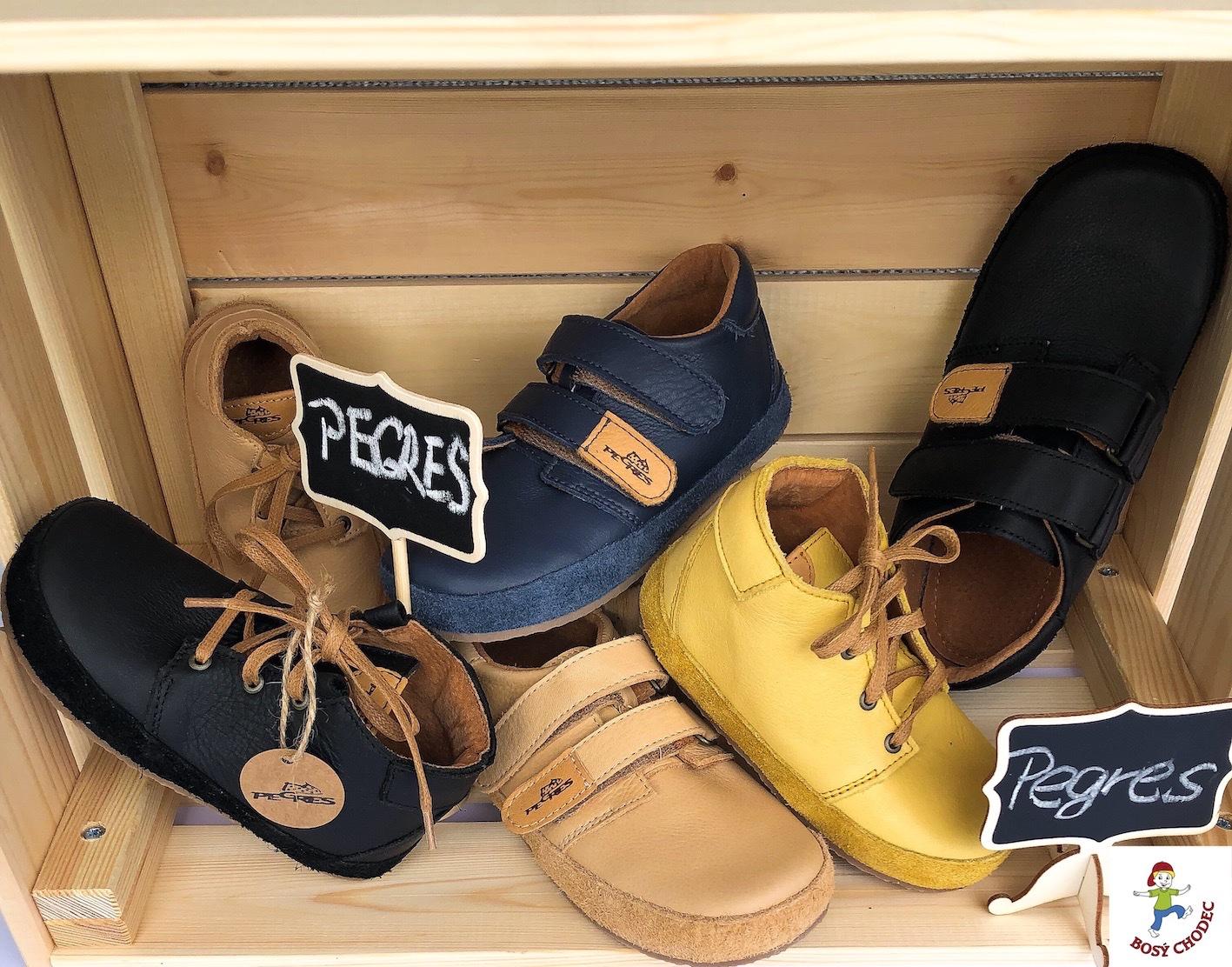 Bosé Pegres - celoroční dětská barefoot obuv