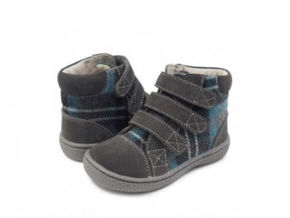 BOTY LIVIE & LUCA JAMIE GREY PLAID - ŠEDÁ