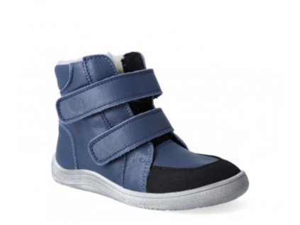 BOTY BABY BARE SHOES FEBO WINTER NAVY ASFALTICO (S MEMBRÁNOU A OKOPEM)