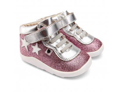 BOTY OLD SOLES STAR STREET - GLAM PINK/SILVER/SNOW