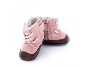 BOTY JACK AND LILY - JO PINK SUEDE BROWN BOOT - RŮŽOVÁ