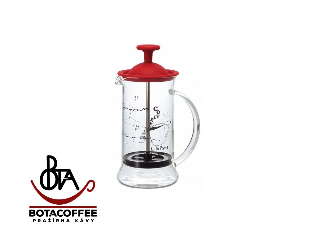 Hario Cafe French Press Slim S Red