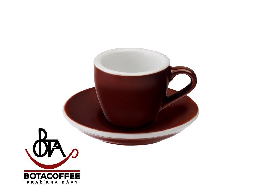 Loveramics Egg Espresso 80 ml Brown s podšálkem
