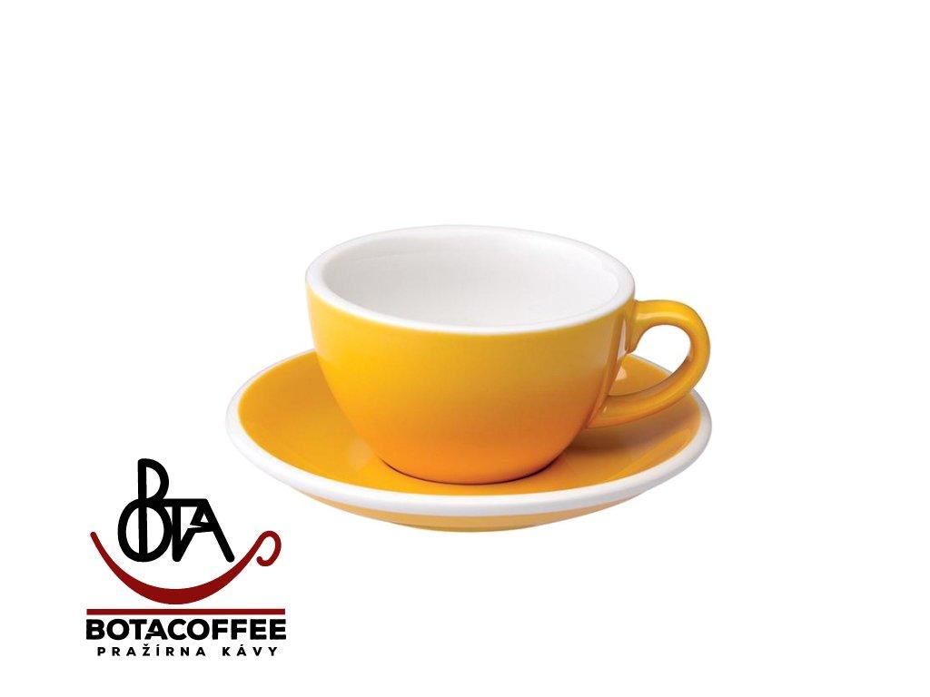 Loveramics Egg Cappuccino 200 ml Yellow s podšálkem