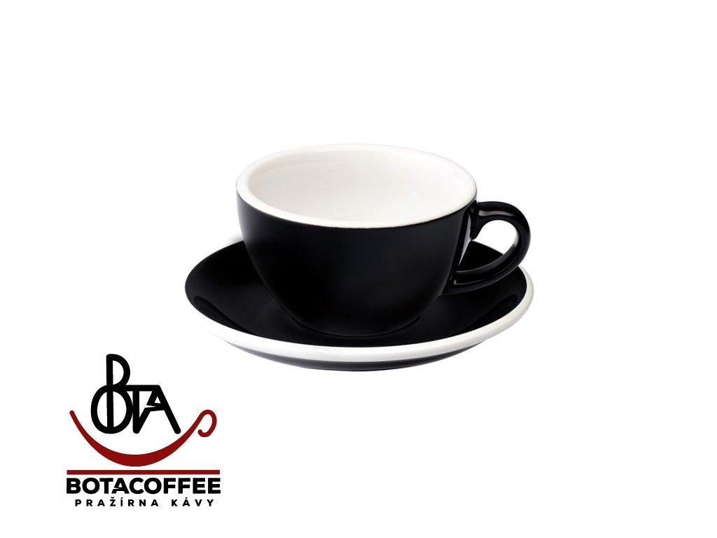 Loveramics Egg Cappuccino 200 ml Black s podšálkem