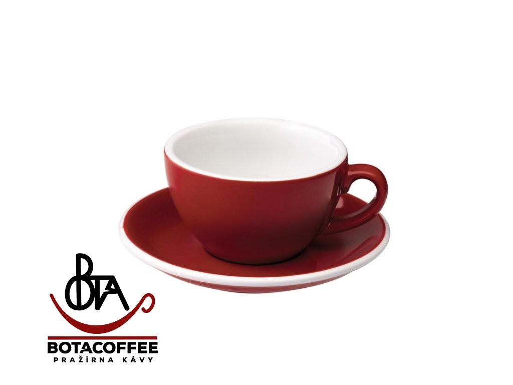 Loveramics Egg Cappuccino 200 ml Red s podšálkem
