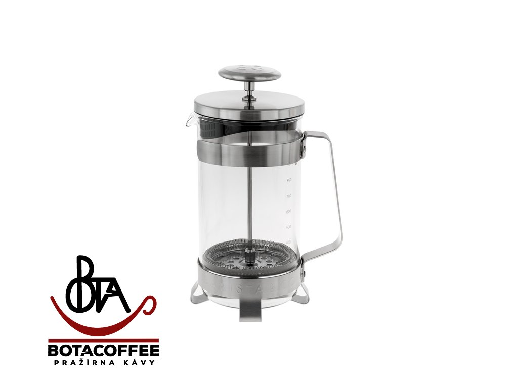 Barista & Co French Press 900 ml - Electric Steel