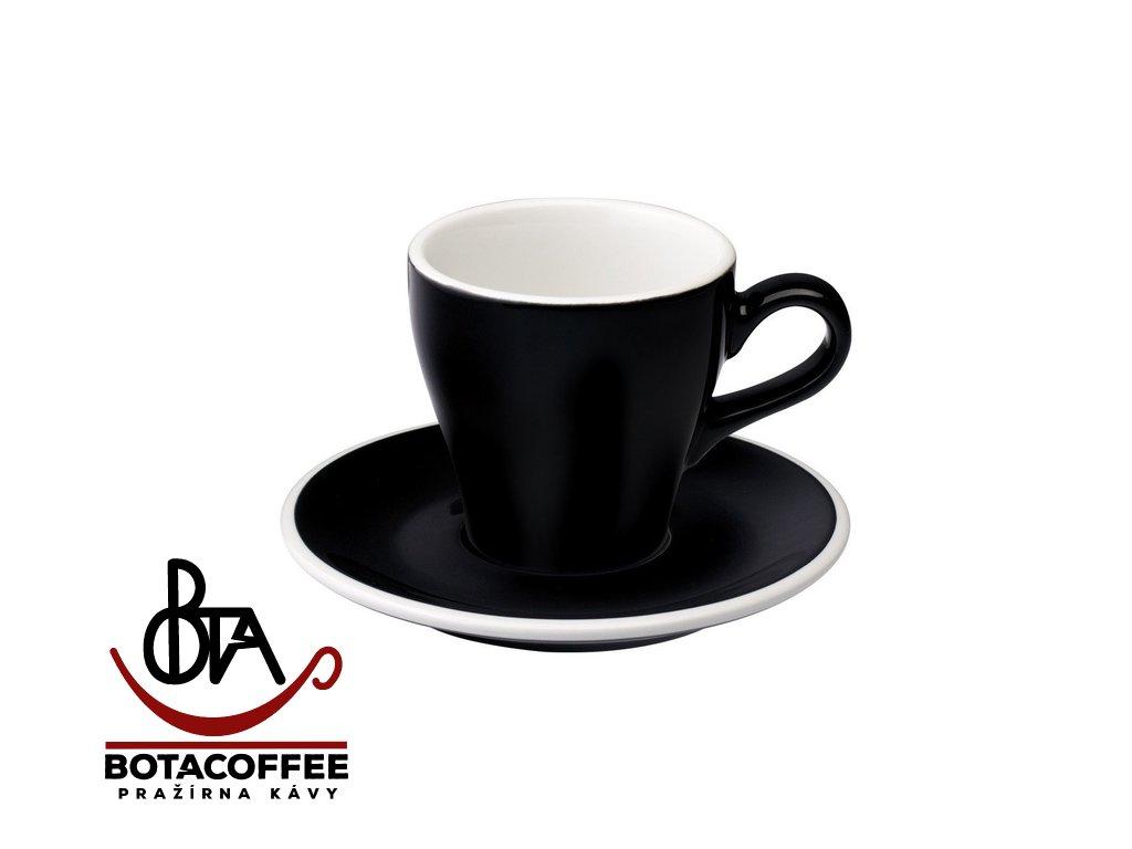 Loveramics Egg Cappuccino 180 ml Black s podšálkem