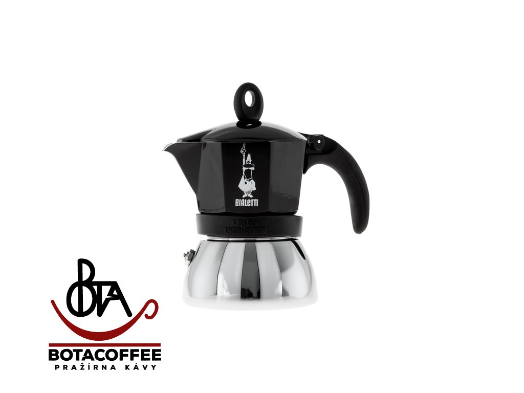 Bialetti Moka Induction 3 porce Black