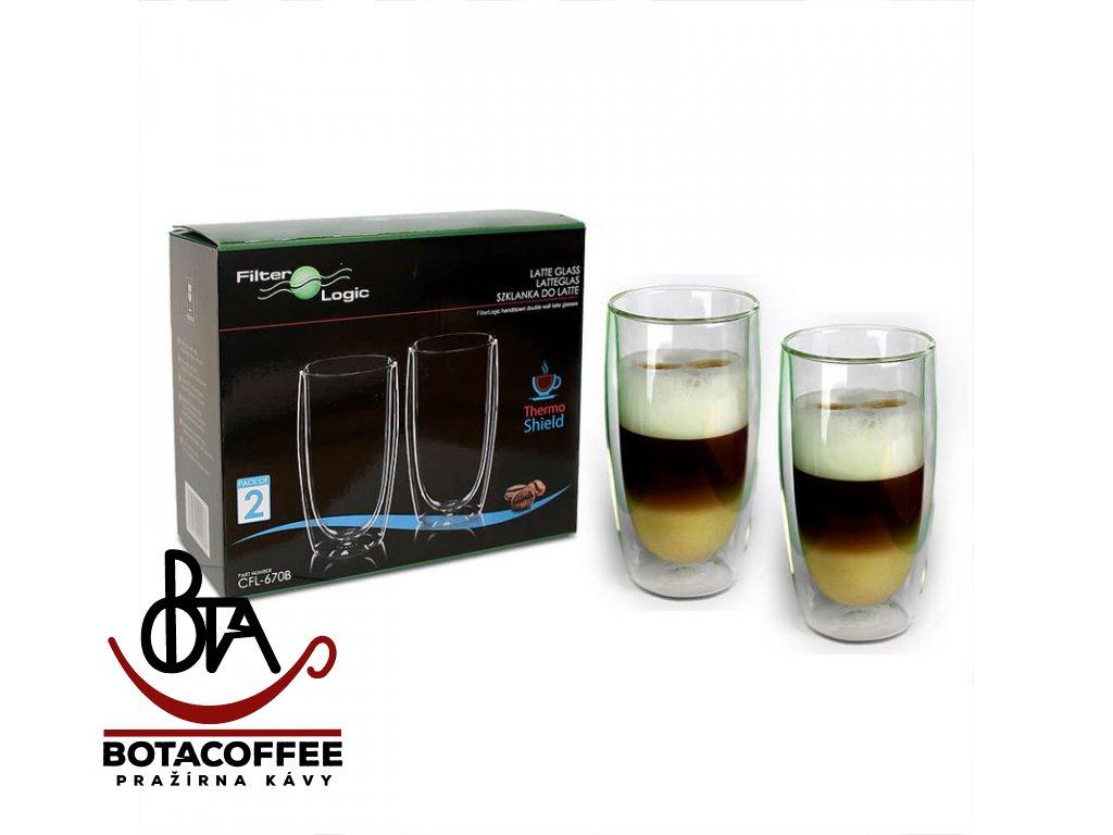 Latte Skleničky Filter Logic CFL-670B 2ks 400ml