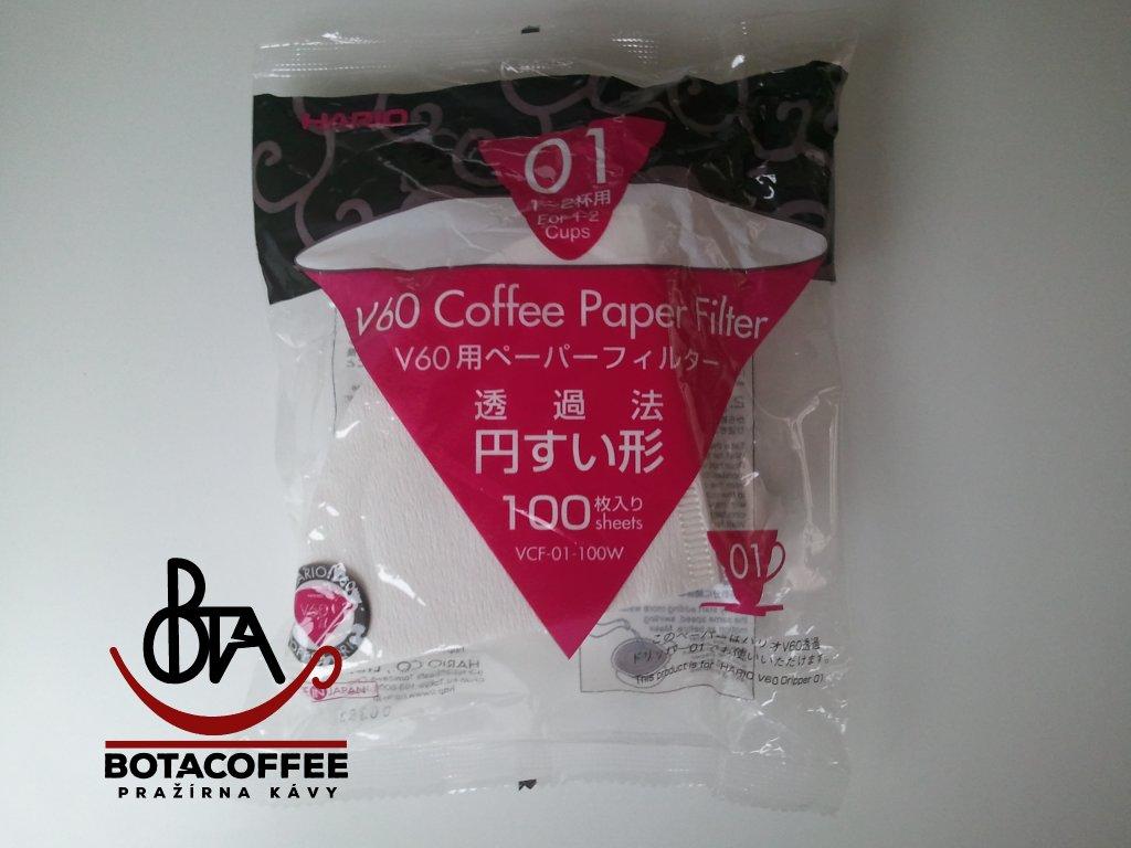 Hario papírové filtry do V60-01 (100 ks)