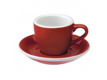 Loveramics Egg Espresso 80 ml Red s podšálkem
