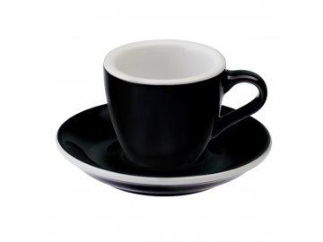 Loveramics Egg Espresso 80 ml Black s podšálkem