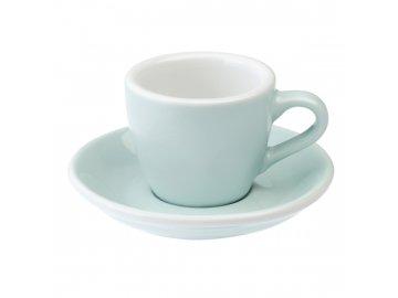 Loveramics Egg Espresso 80 ml River Blue s podšálkem