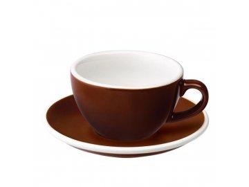 Loveramics Egg Cappuccino 200 ml Brown s podšálkem