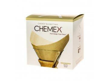 Papírové filtry pro Chemex - 6, 8, 10 porcí - hranaté natural (FSU-100)