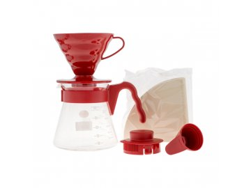 Hario Set V60-02 Plastic Red