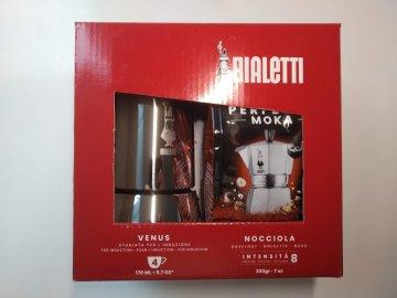 Bialetti Venus 4 porce - dárkové balení s oříškovou kávou Bialetti