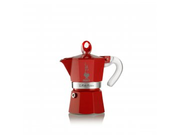 Bialetti Moka Glossy Red 1 porce