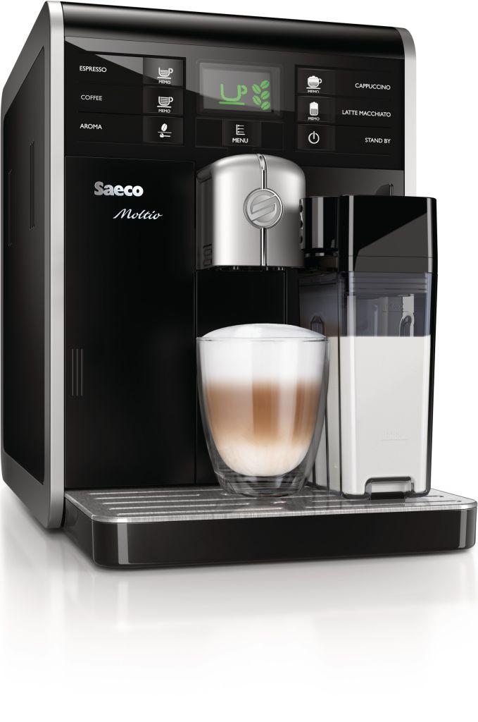 Philips Saeco Moltio Black (HD8769/09) + poukaz na kávu v ceně 400 Kč