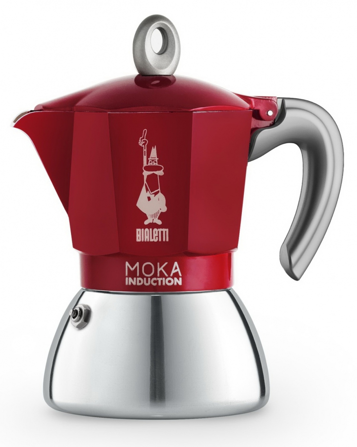 Bialetti Moka Induction 6 porcí Red