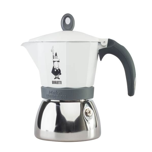 Bialetti Moka Induction 6 porcí White