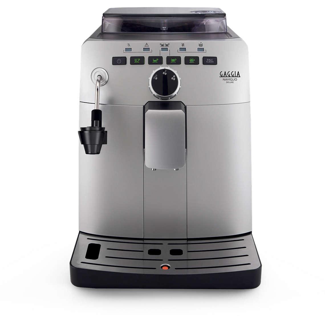 Gaggia Naviglio DeLuxe + poukaz na kávu v ceně 200 Kč
