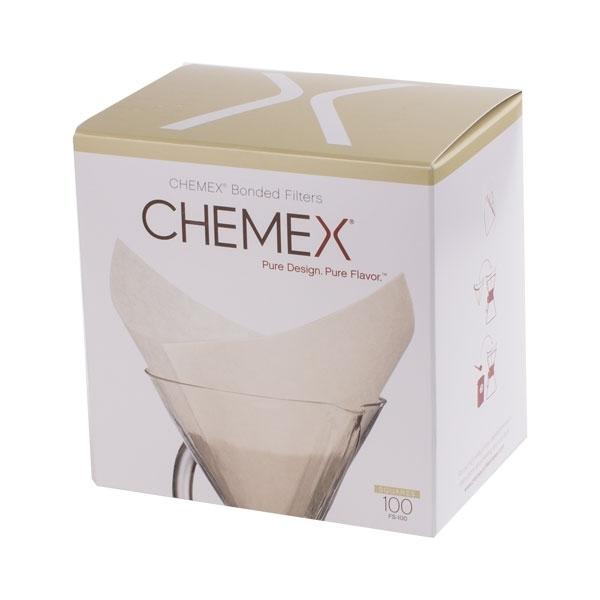 Papírové filtry pro Chemex - 6, 8, 10 porcí - hranaté (FS-100)