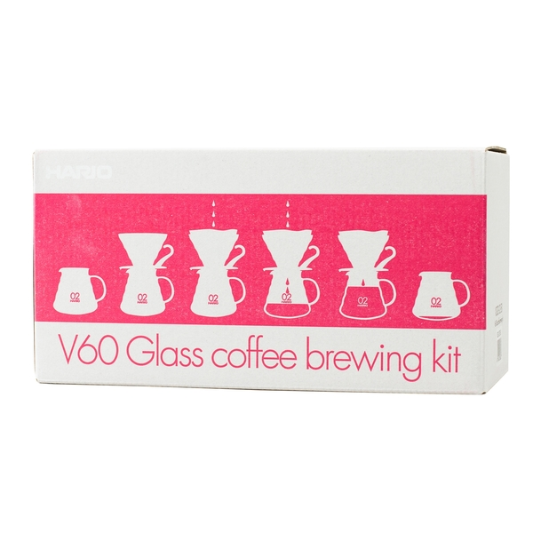 Hario Set V60-02 Glass Red