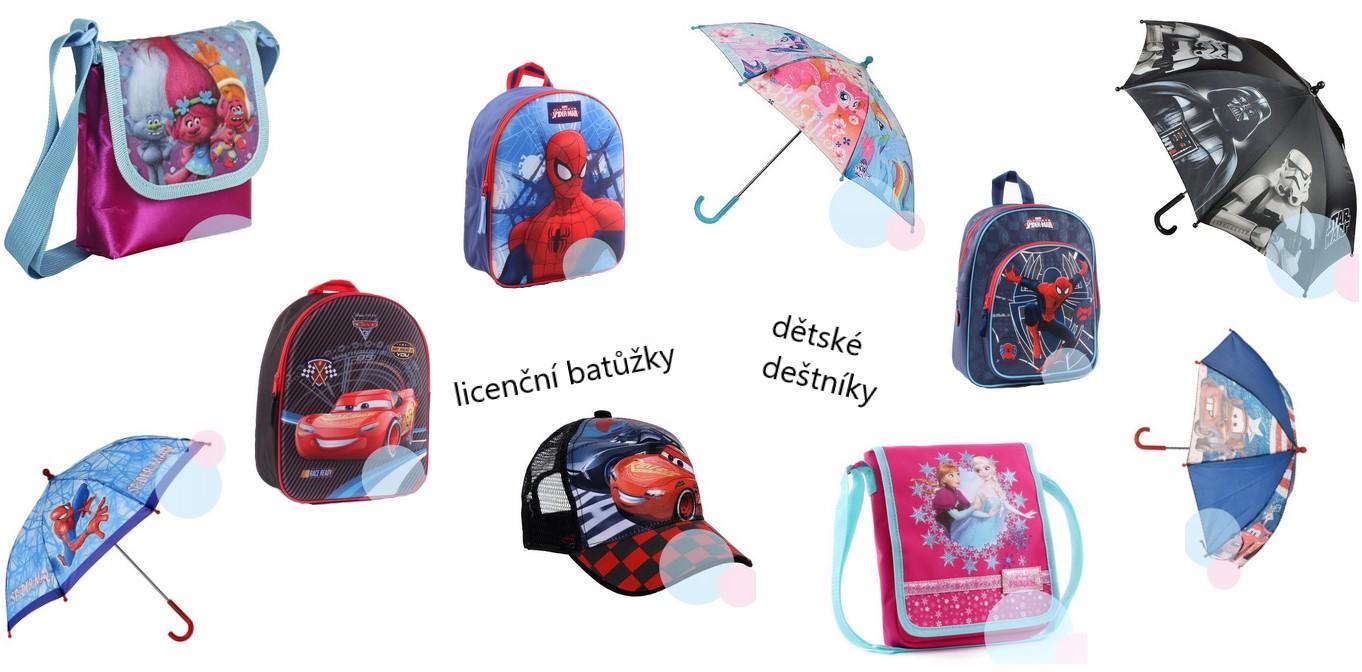 Licenční deštníky a batůžky