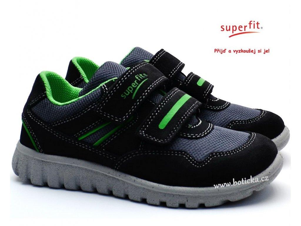 SUPERFIT 3-00191-22 grau/grun Dětské boty