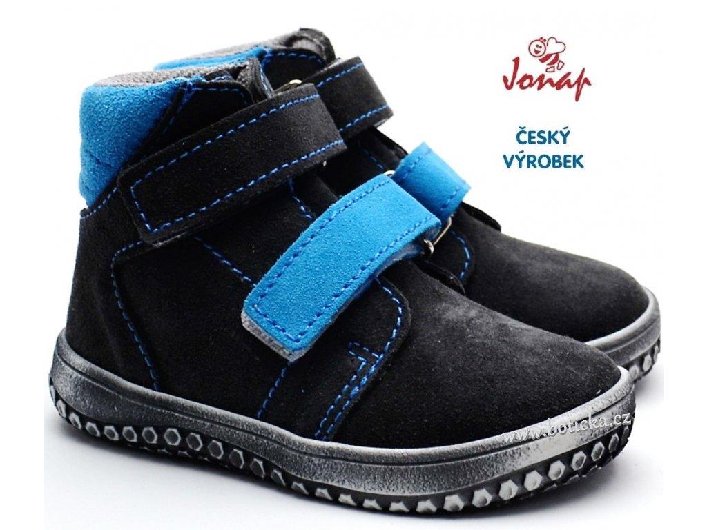 JONAP B2 Dětské barefoot boty - modré