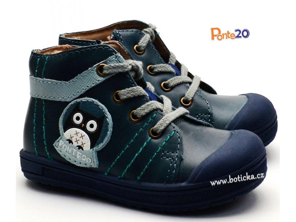 Dětské boty PONTE PP118A Modrá sova - Botička 011bd49585