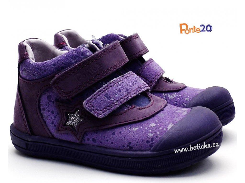 11a4364a079 Dětské boty PONTE PP118A Fialové - Botička