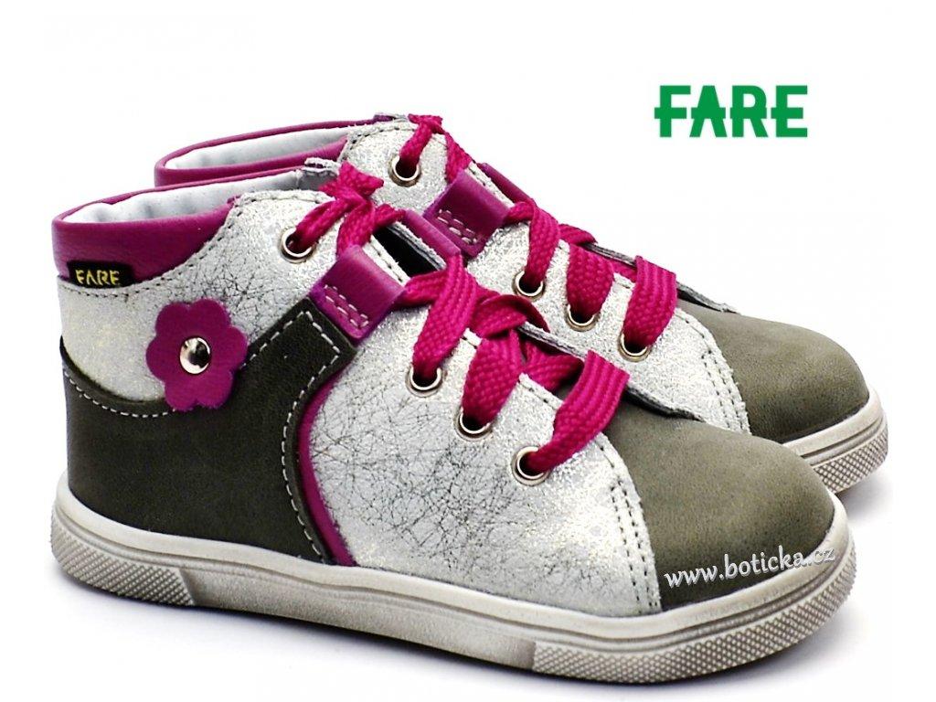 Dětské boty FARE 2126153 růžovošedé - Botička af83f43378
