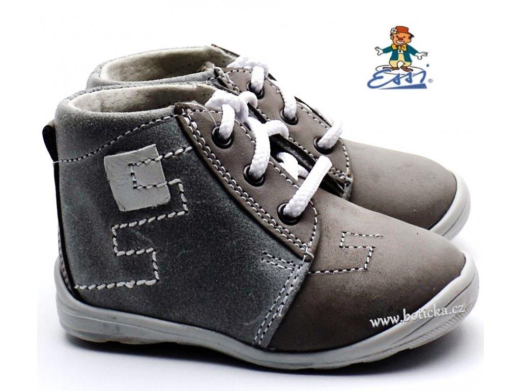 Dětské boty ESSI SÁZAVAN S 2809 šedé - Botička c4f9714286