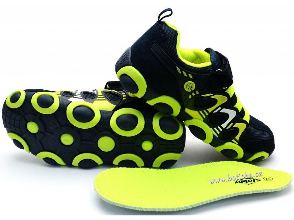 d542fe17b1d Dětské boty SLOBBY 47-0709 zelenomodré - Botička