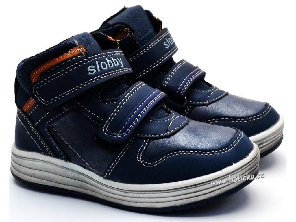 00a86182d6e Dětská obuv SLOBBY 46-0329 modré - Botička