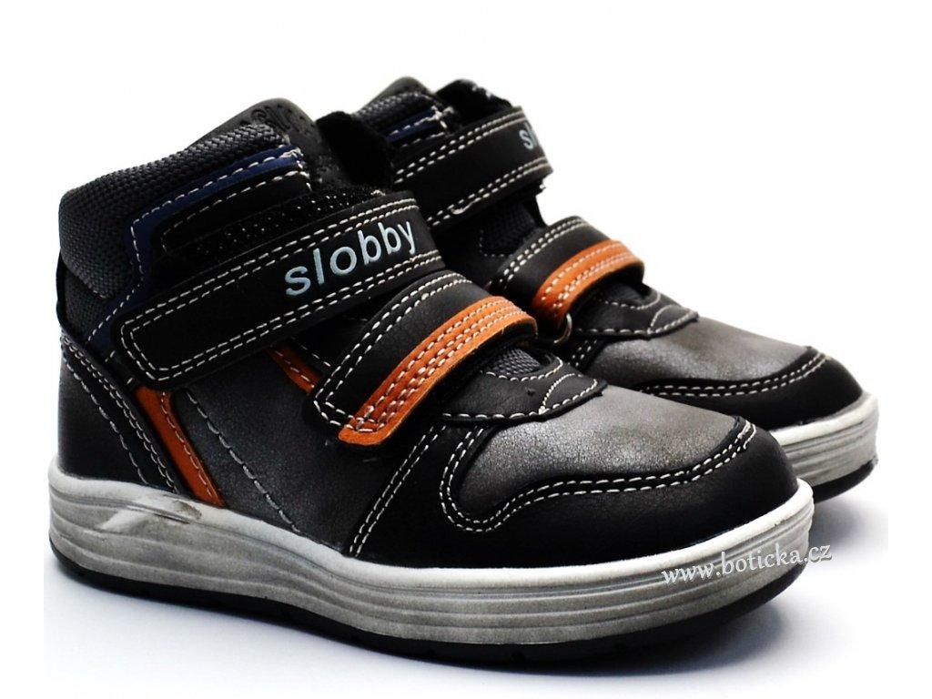 Dětská obuv SLOBBY 46-0329 černé - Botička 0fb39ff9ca
