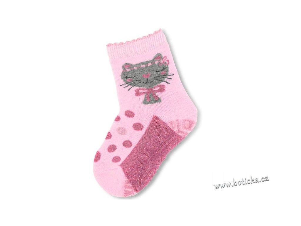 STERNTALER 8141810 Protiskluzové ponožky kočka