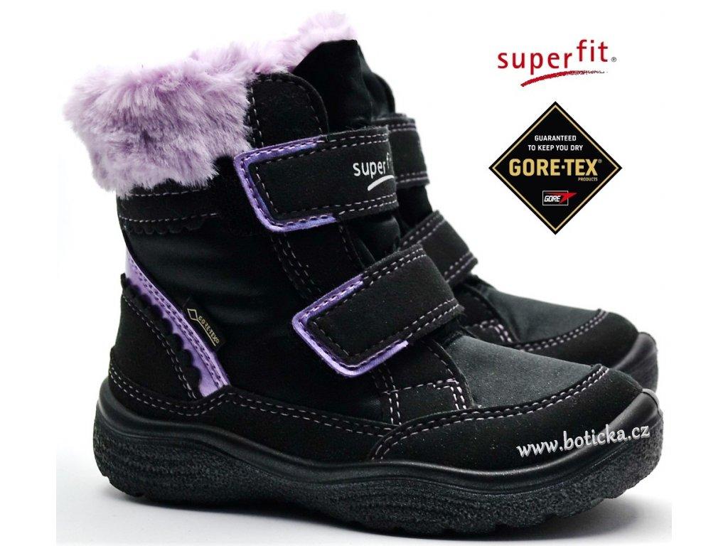 28bd7edc305 Zimní obuv SUPERFIT 3-09090-00 schwarz lila - Botička