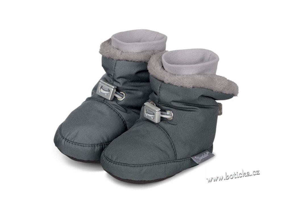 Teplé botičky utahovací STERNTALER šedé - Botička 4bb6b60e67