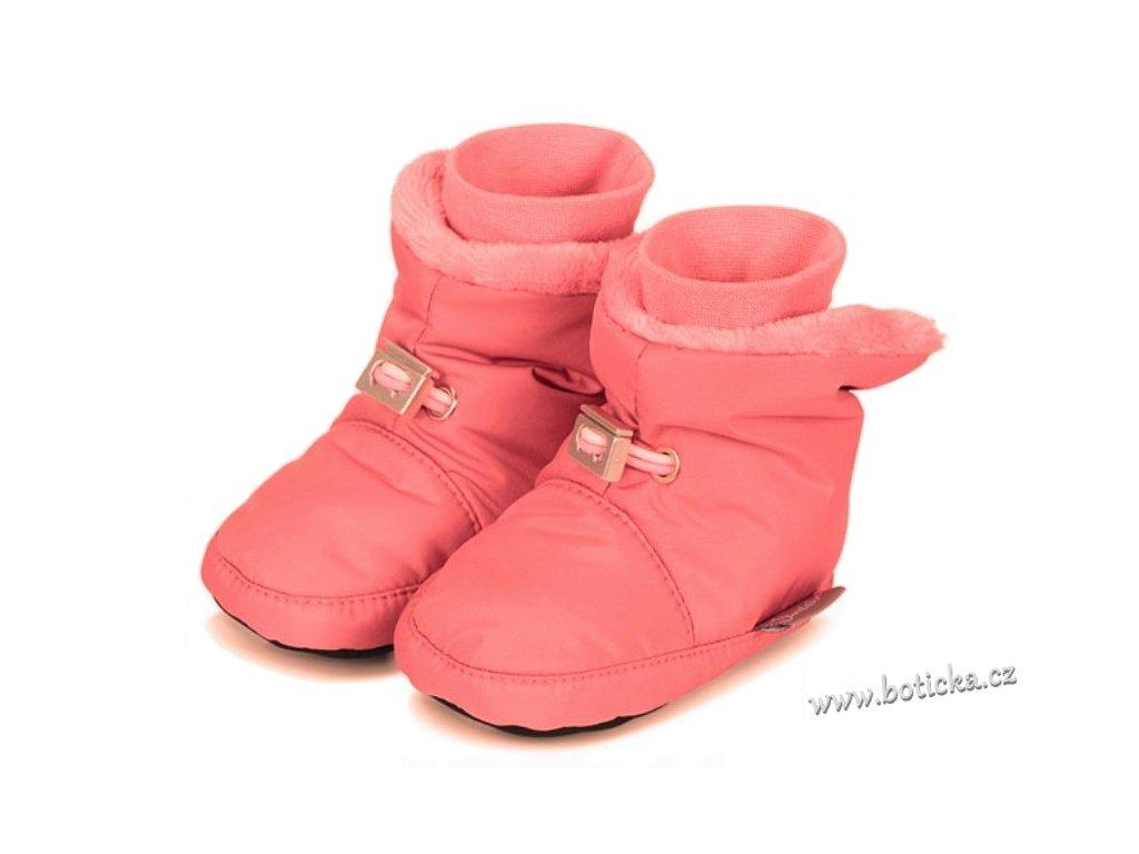 Teplé botičky utahovací STERNTALER růžové - Botička 23fb7d66e1