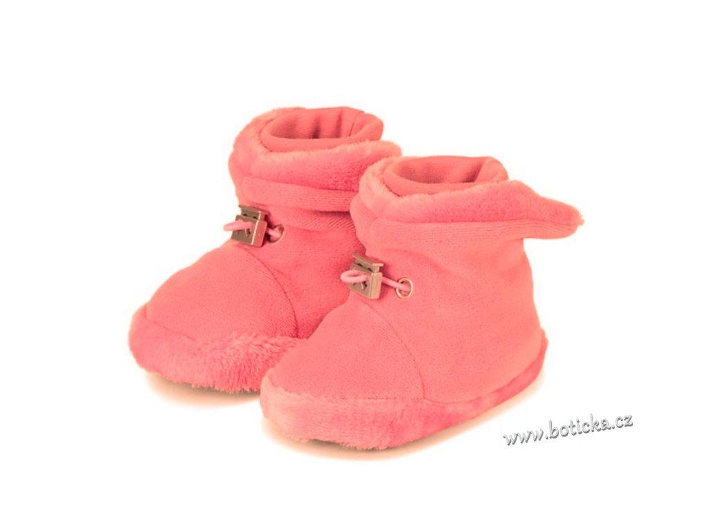 Teplé botičky utahovací STERNTALER perlrosa - Botička 7a5ebe24df