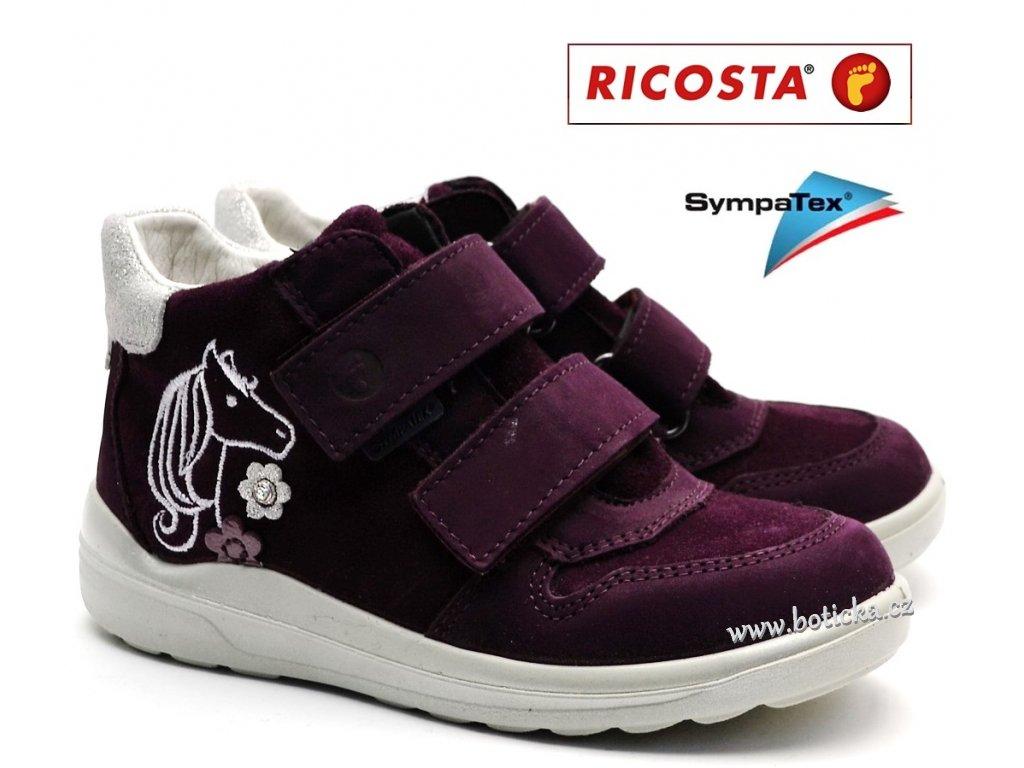 Dětské boty RICOSTA Fiona 82221-381 merlot - Botička 7b080c0775