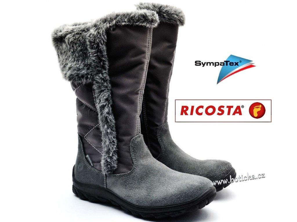 Dívčí kozačky RICOSTA HALEY 80286-496 šedé - Botička 91593715ee